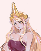Commission OC Elf Character by AlpacaCarlesi