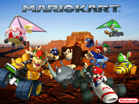 Mario Kart Wallpaper by Galaxy-Afro