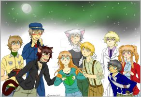 Lunar Days Sim Date Fan Art by DreamySheepStudios