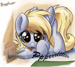 Uh oh, Derpy Found Science! by Bugplayer