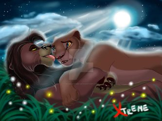 The Lion King - Nala and Kovu by Diego32Tiger