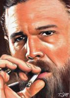 Opie Winston Sons of Anarchy sketch card by Dr-Horrible