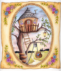 Colored Page from an adult coloring book by Sundry-Art