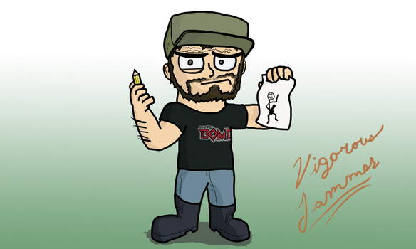 Cartoon Self Portrait ID by Vigorousjammer