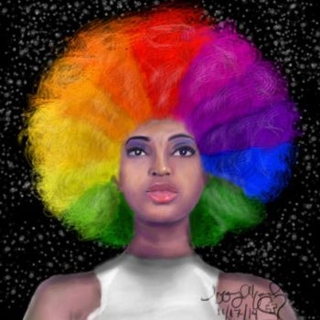 Afro Color Wheel by CreationsByTiffany