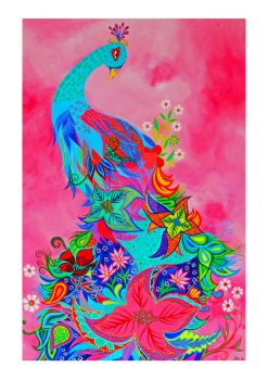 Pink Peacock by Hillion