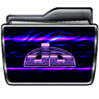deviantART Neon Folder Icon by ScorpiiLupi