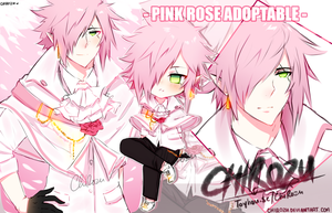 ADOPTABLE | Pink Rose - CLOSED by ChiRozu