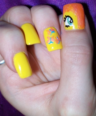 Fluttershy Nails High Quality by RoxieAngel