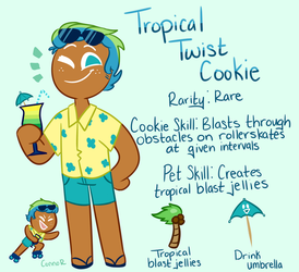 tropical twist cookie by Braang