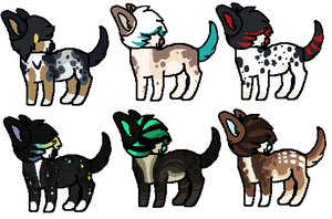 Chibi Doges -Design Sale- by Errored-Adopts