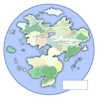 Fantasy World Map - Unlabeled by EotBeholder