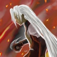 Sephiroth - In the Flames by emorae
