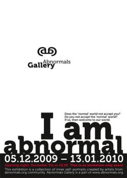 'I am abnormal' exhibition by nEgoist