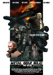 Metal Gear Solid Movie Poster by miyavihoney
