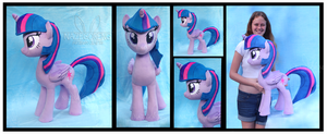 Cuddle Size Twilight Sparkle Custom Plush by Nazegoreng
