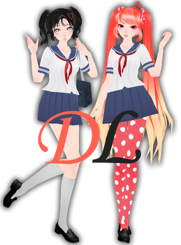 {MMDxYanSimxRivals} TDA Hanako-Osana chan + DL! by HB-Squiddy