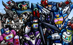 The Many Incarnations of Soundwave (and Laserbeak) by SoundBluster