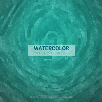 Turquoise Watercolor Background Free Vector by 123freevectors