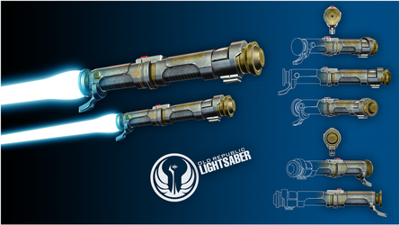 Old Republic Lightsaber by broodofevil