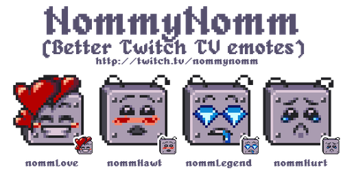 Twitch Emoticons - NommyNomm by alamodepixels