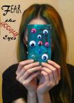 FEAR THE GOOGLY EYES typography hair by suki42deathlake