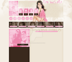 Lea Michele layout 10 by VelvetHorse