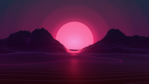 Neon Sunset 4k by AxiomDesign