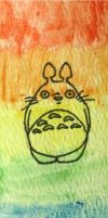Totoro in Rainbow by Orchid-Bud