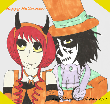Happy Halloween /  Birthday ! by Jolsma