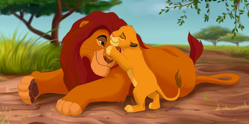 Mufasa and Simba by NemuShiffer
