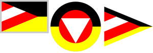 Fusions of German and Austrian flags by hosmich