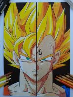 Goku vs Majin Vegeta by FreeKatana