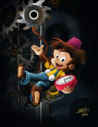 El Mono Relojero (The Watchmaker Monkey) - Fan Art by obertoons