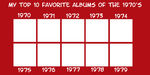 My Favorite Albums of the 1970's meme by JackHammer86