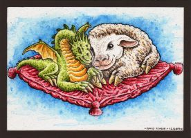 Dragon and Sheep by DavidStaege