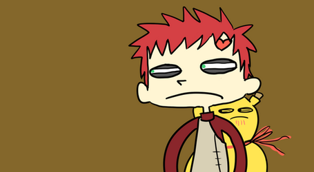 creepy gaara by BaronBamboozle