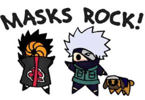 masks rock by Kosetsu