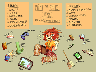 meet the artist by GoatKidCryptid