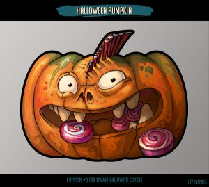 Halloween Pumpkin#3 for Envato Halloween contest by lazy-brush