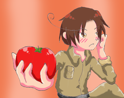 APH Take the goddamn tomato by TsukasaInTheBowl