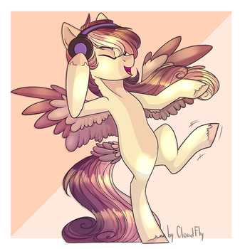 [Ych 1\5] Feather Rush by Cloud-Fly