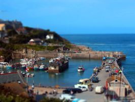 Newquay Harbour Cornwall UK by TarJakArt