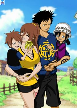 [Re-Edit] One Piece OC - Trafalgar/Rivals family by jullyonepiece