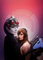 Widowmaker And D.Va Cosplay by WhiteSpringPro