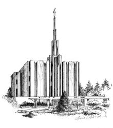 Seattle Temple by Ihha