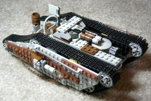 Heavy Steam Tank Mk. I (front) by RRaillery