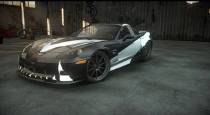 chevy corvette. cross NFS carbon. the run by DazKrieger