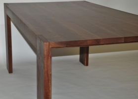 Parsons Walnut Dining Table by belakwood