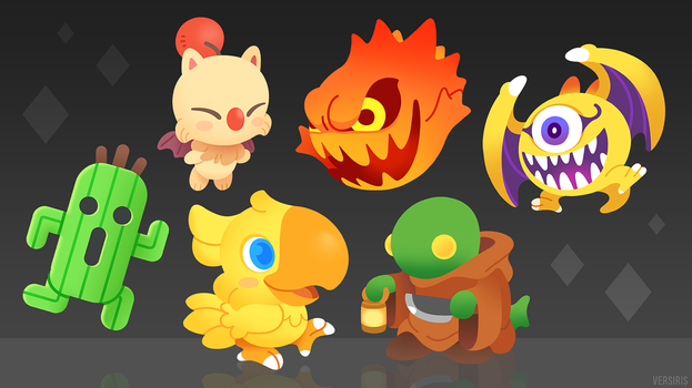 Final Fantasy Mascots by Versiris